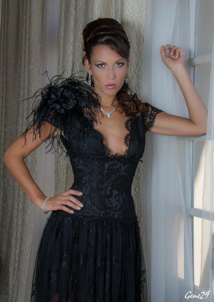 Robe haute couture en dentelle de Calais Estelle Cloann Couture