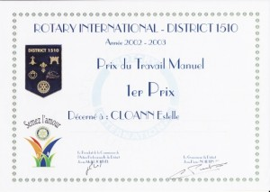 estelle-cloann-1ier-prix-départemental-Loire-Atlantique-Rotary-International-mai-2003