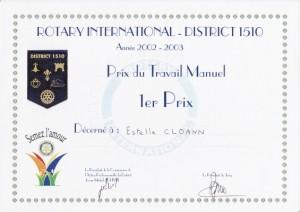 estelle-cloann-1ier-prix-régional-Loire-Atlantique-Rotary-International-juin-2003