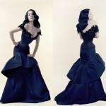 Dita Von Teese avec un corset créée par Mr Pearl - 2004